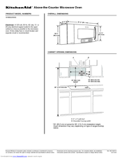 KitchenAid Architect Series II KHMS2056SSS Specifications