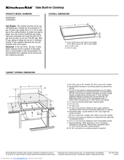 KitchenAid KGCC566RBL - Architect Series II Install Manual