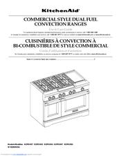 Kitchenaid Kdrs483vss 48 Quot Commercial Dual Fuel Range Manuals