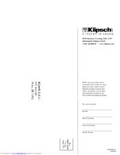 KLIPSCH KSW-10 OWNER'S MANUAL & WARRANTY Pdf Download. on klipsch sw ii 8, klipsch synergy diagram 12, klipsch sub-12hg, klipsch ksw 10 manual, klipsch promedia 5 1 amp repair, klipsch thx computer connect to desktop, klipsch promedia v 2 400 repair,
