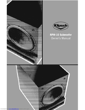 klipsch sw 450 manuals rh manualslib com klipsch sw-450 owners manual klipsch sw 450 subwoofer review