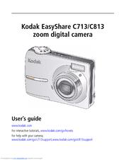 kodak easyshare c713 user manual pdf download rh manualslib com Kodak EasyShare C713 USB Cable Kodak Camera C813 Manual