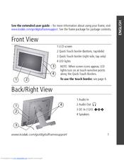kodak w820 easyshare digital frame user manual 30 pages. Black Bedroom Furniture Sets. Home Design Ideas