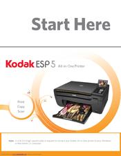 kodak esp 5 start here manual pdf download rh manualslib com kodak esp 5250 software download uk kodak esp 5250 software download