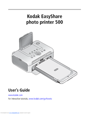 KODAK EASYSHARE PHOTO PRINTER 500 USER MANUAL Pdf Download