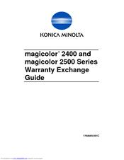 Error messages (warning)   konica minolta magicolor 2550 user.