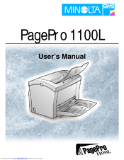 minolta qms pagepro 1100l manuals rh manualslib com