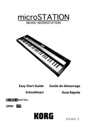 Korg microSTATION Easy Start Manual