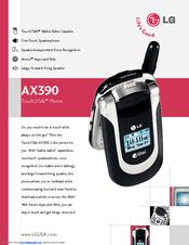 lg ax390 cell phone manuals rh manualslib com