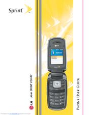 lg lx160 manuals rh manualslib com LG Touch Phone Operating Manual LG Flip Cell Phone Manual