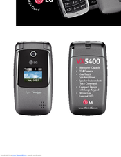 lg vx5400 manuals rh manualslib com LG VX6000 LG VX6100