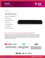 LG BD630 Quick Manual