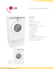 lg dle2514w manuals rh manualslib com LG Dryer Instruction Manual LG Dryer Repair Manual