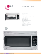 lg lmvh1750st 1 7 cu ft microwave oven manuals rh manualslib com lg microwave oven owner's manual & cooking guide lg microwave oven owner's manuals