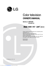 LG 30FS4D Owner's Manual