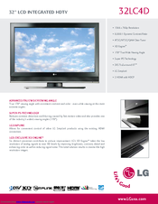 LG 32LC4D Series Specifications