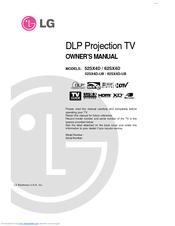 lg 52sx4d ub manuals rh manualslib com LG Phones Manual LG Instruction Manual