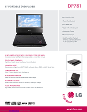 lg dp781 portable dvd player manuals rh manualslib com Manual for LG Optimus LG Cell Phone Operating Manual