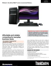 Lenovo ThinkCentre A58e Flash Windows Vista 32-BIT