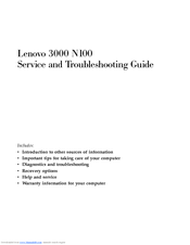 Lenovo 3000 N100 Supplementary Manual