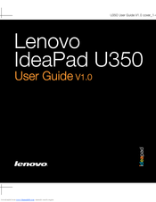 Lenovo IdeaPad U350 2963 User Manual