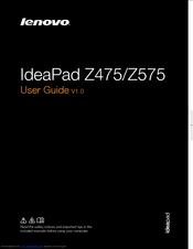LENOVO IDEAPAD Z575 1299 USER MANUAL Pdf Download