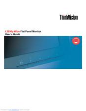 lenovo thinkvision l2250p user manual pdf download rh manualslib com Lenovo ThinkVision Driver Lenovo ThinkVision Driver