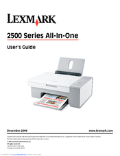 lexmark x2550 windows 7