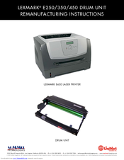 Lexmark 250d - E B/W Laser Printer Instructions Manual