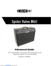 Line 6 spider valve hd100 all tube amp and fbv2 footswitch cat5.