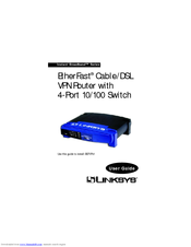 Linksys BEFVP41 - EtherFast Cable/DSL VPN Router Manuals