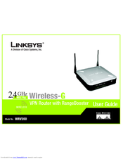 linksys wrv200 user manual pdf download rh manualslib com Linksys WAP54G Manual linksys wrv200 manual español