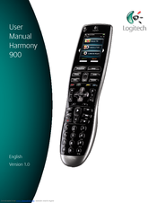 logitech 915 000030 harmony 900 universal remote control manuals rh manualslib com logitech harmony 700 manual pdf Harmony 720 Software