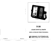 Lowrance X-30 Installating And Operation Manual