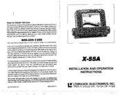 Lowrance X-55A Installation And Operation Instructions Manual