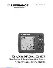Lowrance X87 Operation Instructions Manual