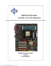 Msi K8N Neo2-FX Drivers for Mac