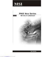 msi p965 platinum motherboard atx manuals