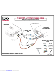 mtx thunder 801d manuals rh manualslib com Guide to 4 Channel Amp Wiring for Speakers Profile 2 Channel Amp Wiring