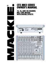 mackie cfx 16 mixer manuals mackie cfx 16 mixer owner s manual
