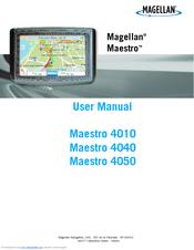 magellan maestro 4040 user manual pdf download rh manualslib com Magellan Maestro GPS Magellan Maestro Not Turning On