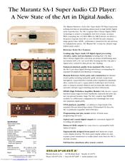 marantz sa1 super audio cd player service manual