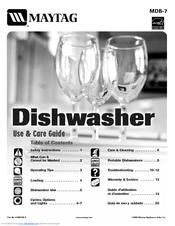 maytag mdc4650aww 24 inch portable dishwasher manuals rh manualslib com maytag dishwasher manual w10641736a maytag dishwasher manuals online