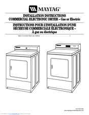 maytag commercial dryer electric manuals rh manualslib com Help Maytag Commercial Dryer Parts Pull Push Start Button Maytag Dryer