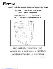maytag high efficiency washer manual