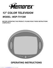 memorex msp tv1300 manuals rh manualslib com Owner's Manual memorex user manuals