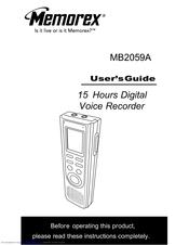 memorex mb2059 user manual pdf download rh manualslib com memorex voice recorder mb2059c manual