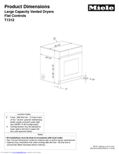 Miele T 1323C CONDENSER DRYER Product Dimensions
