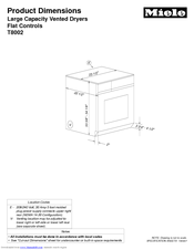 Miele t 8013 c | operating and installation manual.