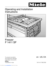 Miele F 1411 SF Operating And Installation Manual